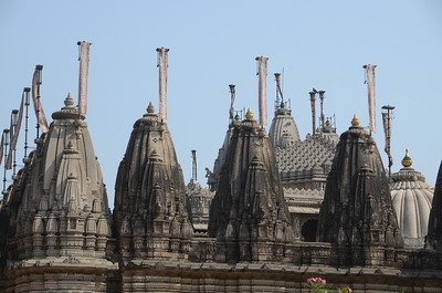 The rooftop of the Jain temple