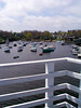 Boats as seen from the suspension footbridge in Perkins Cove, Ogunquit, Maine.