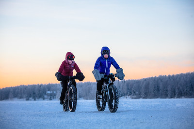 Fatbiking in Alaska. Shot on assignment for Trek Bikes.