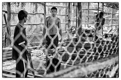 Prisoners work in a wood workshop in Cambodia. Shot on assignment to International Bridges for Justices.