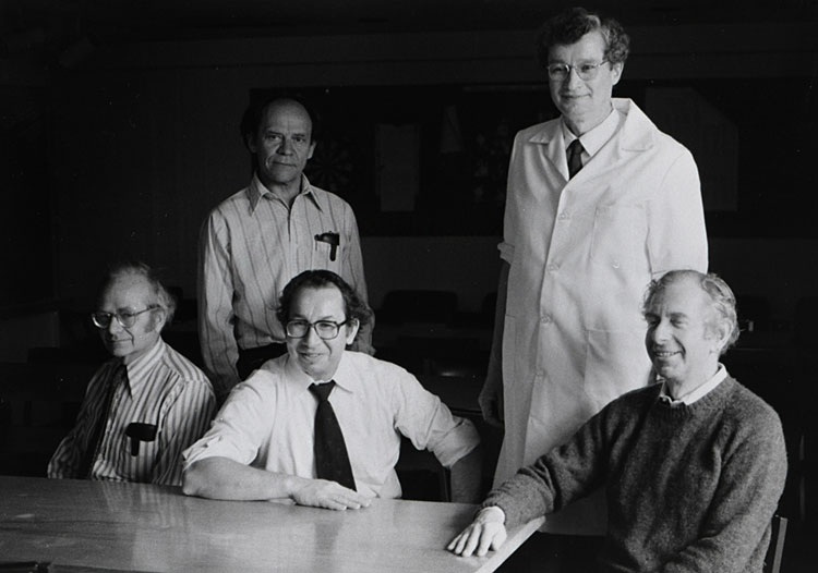 David Hubel, Torsten Wiesel, Ed Kravitz, David Potter & Ed Furshpan