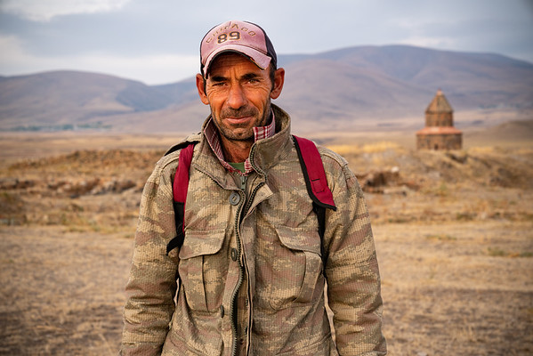 Herder in the site of Ani, Eastern Turkey.