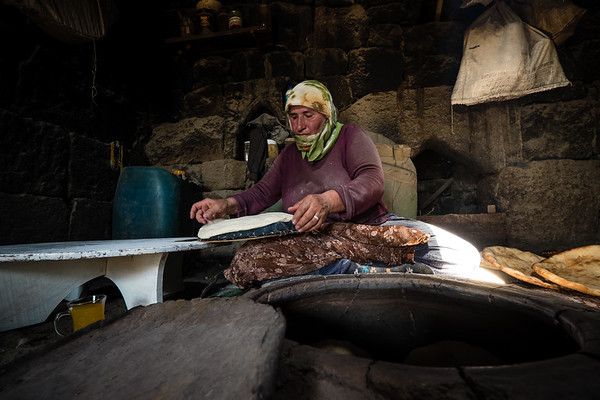 Traditional Breadmaking. Ocakli village next to Ani. Eastern Turkey.