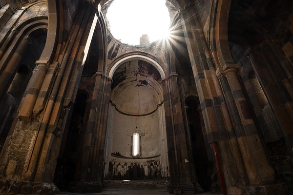 Interior of The Cathedral, Ani. Eastern Turkey.