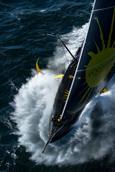 OFF Groix - June 6: French skippers Armel Tripon sailing on the Imoca l'Occitane, training prior to the vendée globe, on June 6, 2020, off Groix, South Brittany, France - Photo Pierre Bouras / L'Occitane en Provence