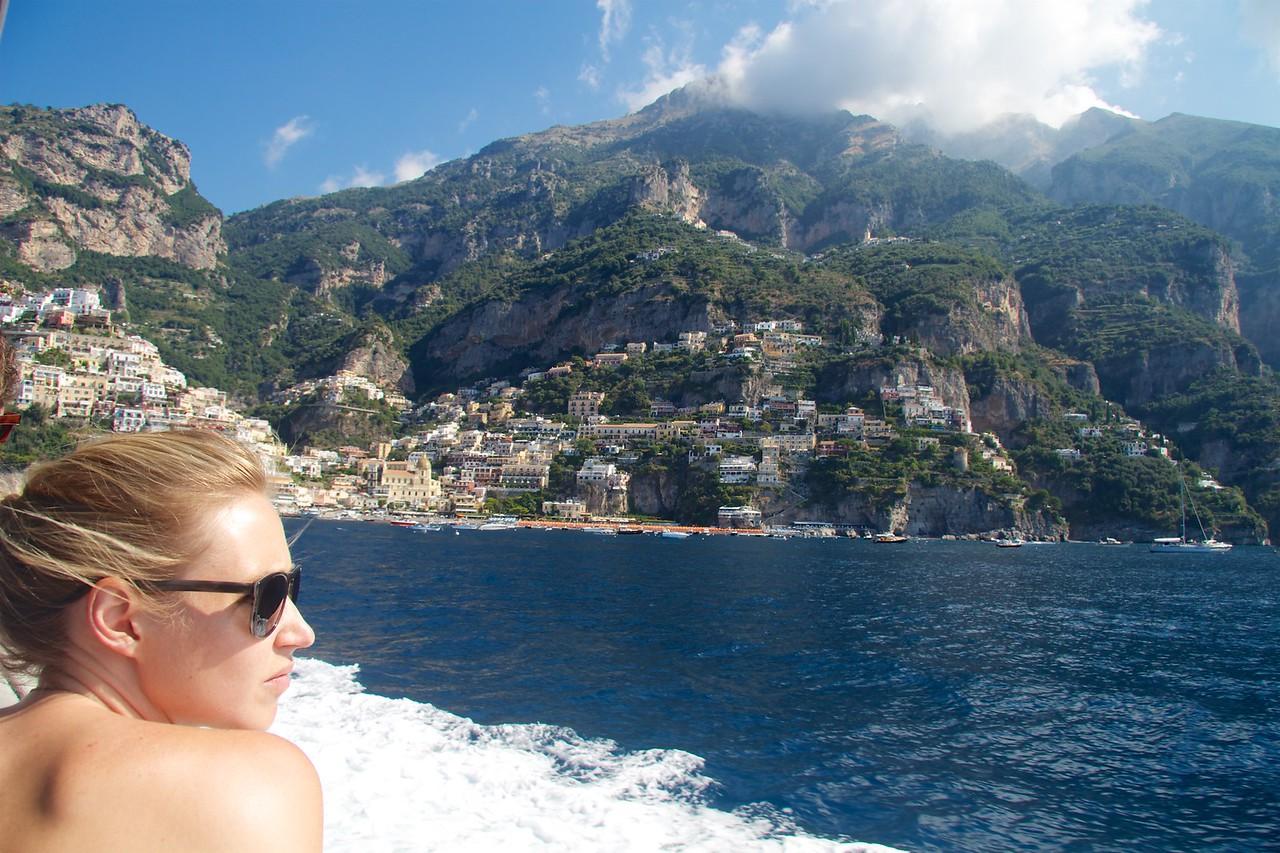 Crusing into Positano