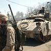 American Soldiers Patrolling Bagdad Streets