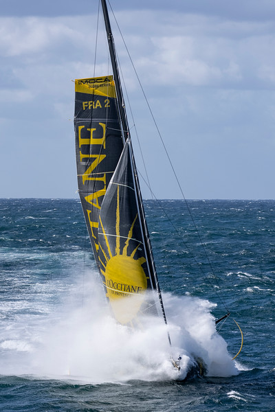 OFF Belle île - September 25: French skippers Armel Tripon sailing on the Imoca l'Occitane, training prior to the vendee globe, on september 25, 2020, off Belle île South Brittany, France - Photo Pierre Bouras / L'occitane en Provence