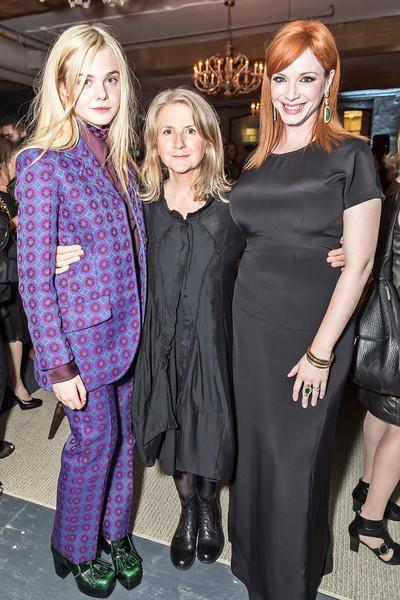 Elle Fanning, Sally Potter & Christina Hendricks