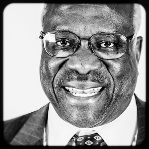 Supreme Court Justice Clarence Thomas. Shot on assignment for the University of Portland.