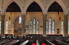Toronto- St James cathedral, inside arches and pews.