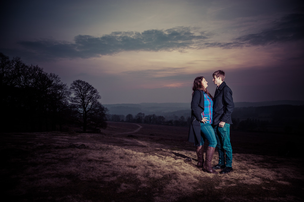 engagement photoshoot - in the country side