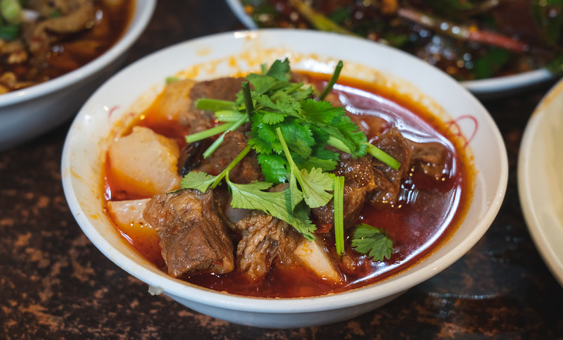 Something more westerner-friendly, a little beef stew with either taro or potatoes, don't remember which. Regardless, they both taste pretty much the same in this context.