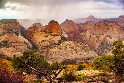 Thunderstorm in Zion National Park West Wilderness