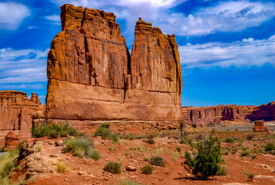 Courthouse Towers in Arches National Park