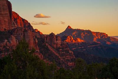 Sunset on Kolob Canyon