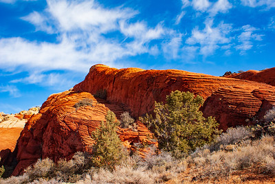 Clouds Over the Peterfied San Dunes of Snow Canyon State Park