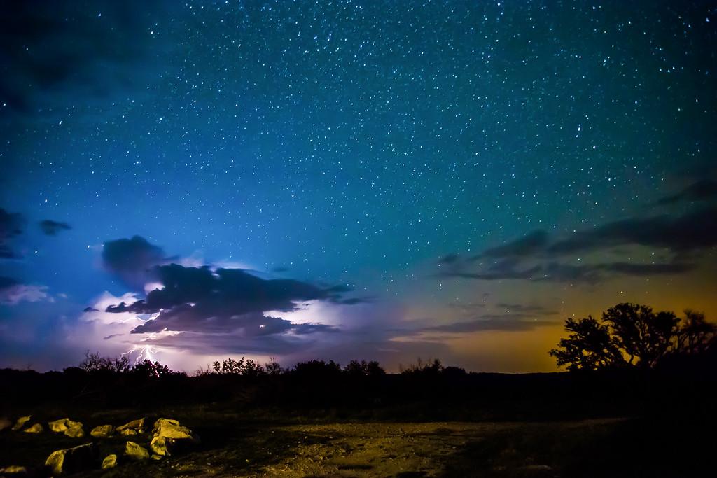Lightning among the stars
