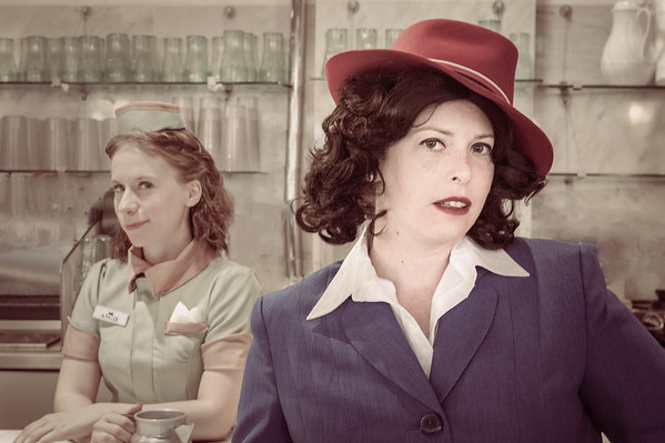 Agent Carter (FB: Joker's Wild Cosplay) and Angie Martinelli (IG: @elendriel_alastair)