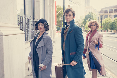 Fantastic Beasts and Where to Find Them  - Tina Goldstein is @batestab on Instagram, Newt Scamander and Queenie Goldstein are on Facebook @michayleycosplay