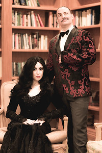 Morticia (@kittykrell - Instagram) and Gomez Addams