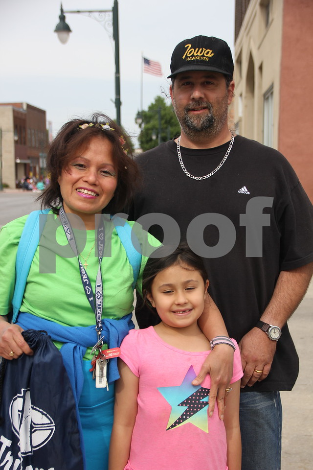 The Frontier Days parade took place on Saturday, June 6, 2015 in Fort Dodge. Seen here left to right are: Ann,Brent, and Teresa Bartelson as they wait anxiously for the parade to begin.