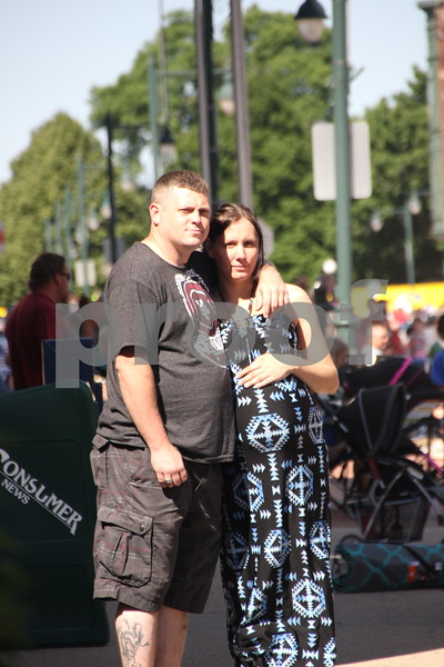 Seen (left to right) is: Andrew Witham and Amanda Brown, who attended the Frontier Days Parade that took place on Saturday, June 4, 2016 in Fort Dodge.