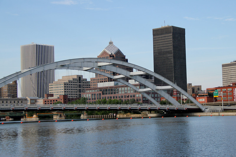Fredrick Douglas -Susan B Anthony Bridge from the Genesee River in Rochester, NY