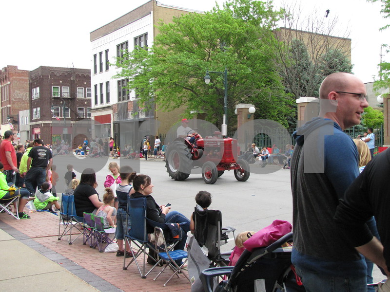 Central Ave. in downtown Fort Dodge was lined with families watching the 2014 Frontier Days parade.