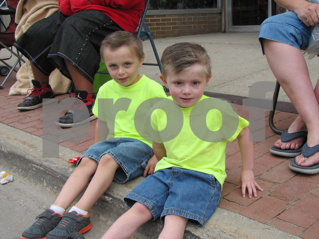 Lucas and Nick Davis found a good seat to watch the parade.