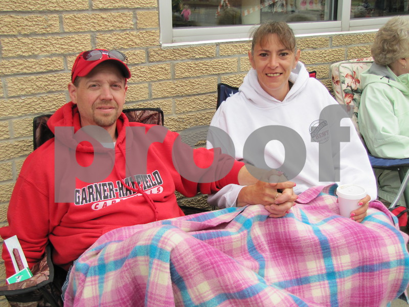 Marty and Lisa Morin came from Britt to watch the Frontier Days parade.