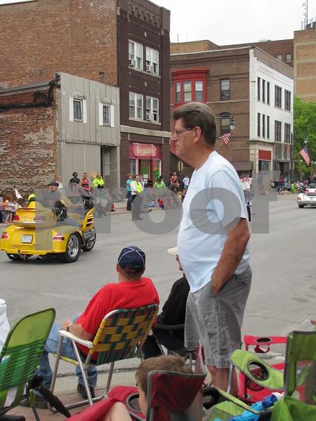 Keith Ropte enjoying the parade.