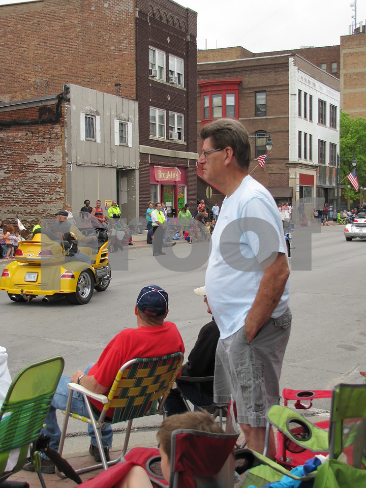 Keith Ropte enjoying the parade.
