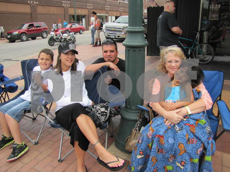 Karson, Monica, and Josh Ayala, and Diana Schliske holding Ariah Ayala.