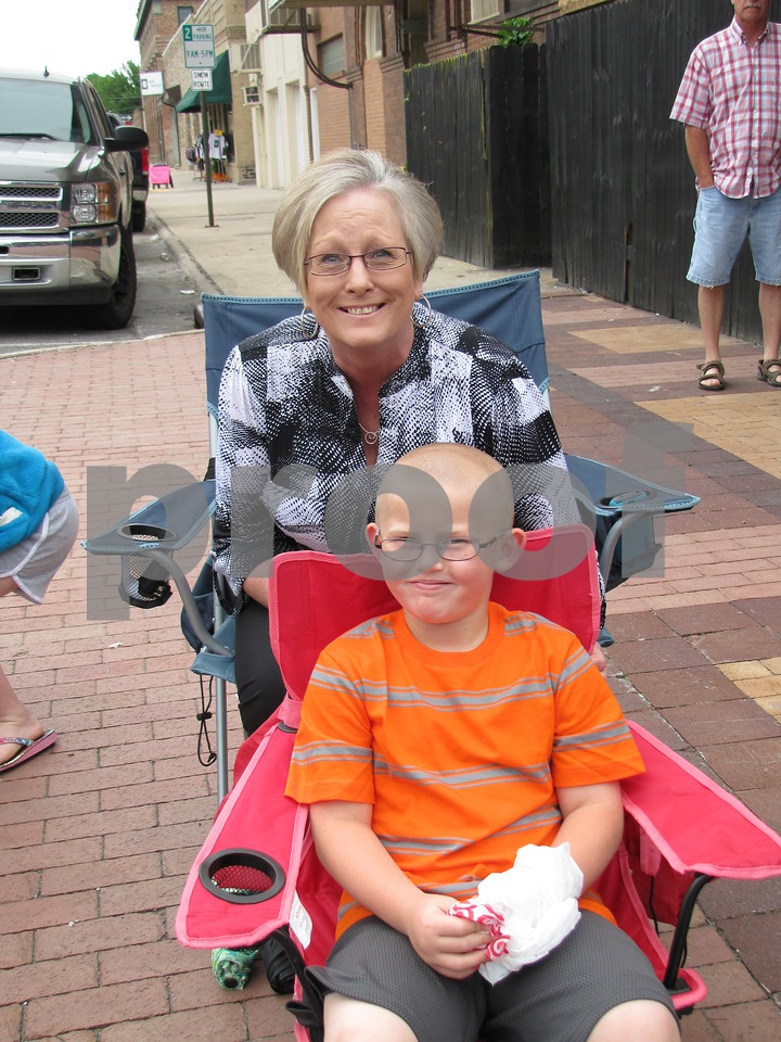 Connie Lind-Fraher with her grandson, Caiden Fraher at the Frontier Days parade.