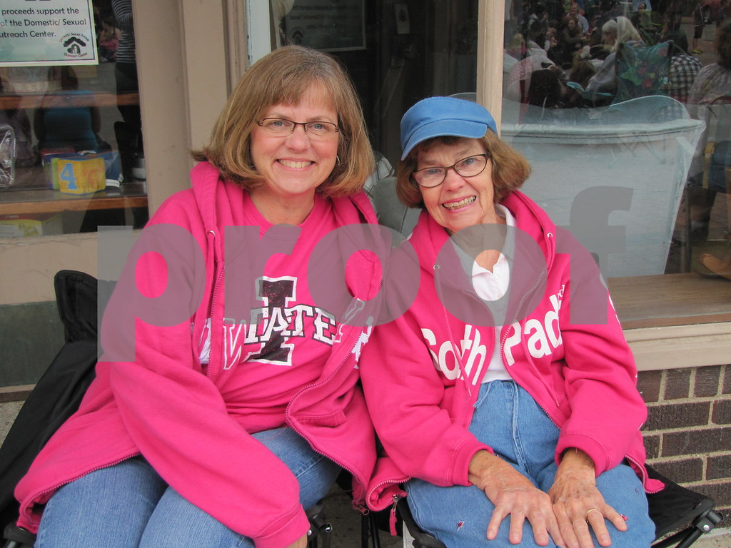 Mary Ohrtman and her mom Rita Ivory had a good seat for parade watching.