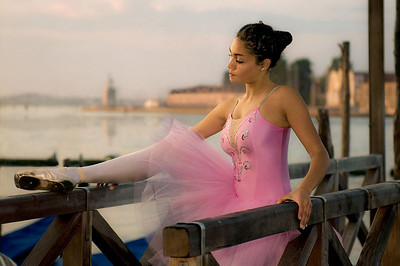 The Poets's Muse - Ballerina at the Venice Docks
