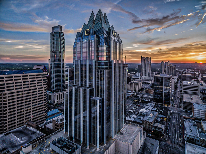Frost Bank Tower Colorful Sky 2