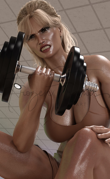 Workout - Bicep curl while seated