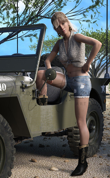 Portrait with a Jeep