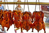 Chinese roast duck on hook in Chinatown