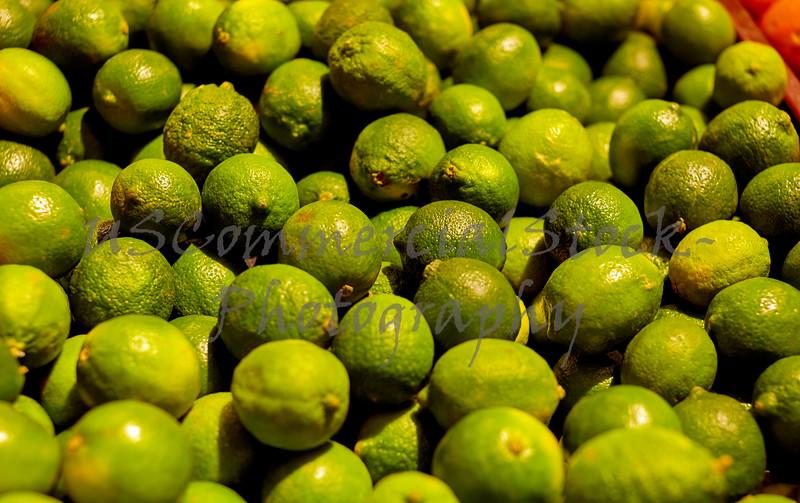 Bushels of Limes in a Bin