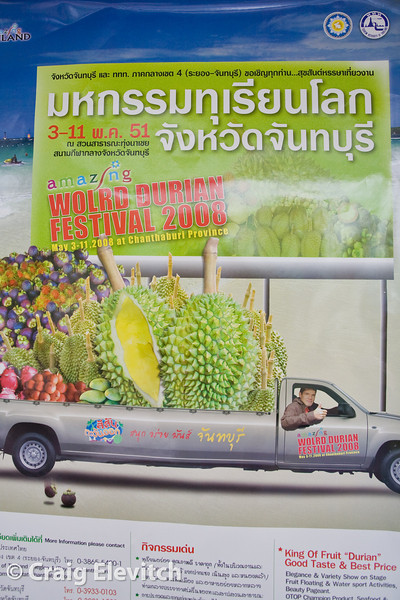 The Chanthaburi 2008 World Durian Festival poster.