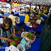 Contestants compete for the most beautiful Chanthaburi fruit basket.