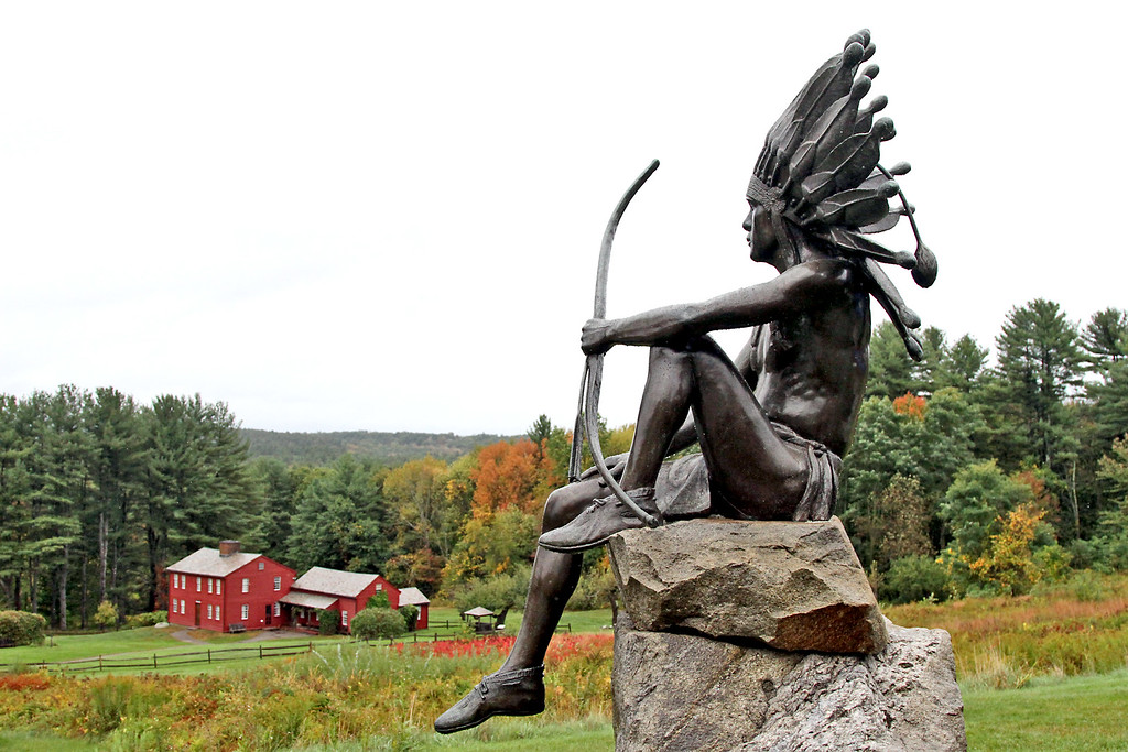 . Shown here at the Fruitlands Harvest Festival is a Bronze statue called Wo Peen The Dreamer by Philip Sears c.1938. Nashoba Valley Voice Photo by David H. Brow