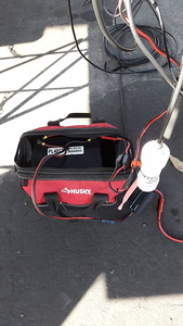 40 AH: radio, modem, laptop, tuner. All day. RF on radio at 50 watts.