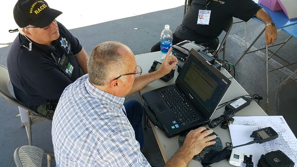 Me instructing member of local RACES on Winlink