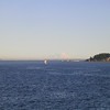 The lighthouse at Marrowstone Island (and Ft. Flagler) with Mt, Rainer in the background.