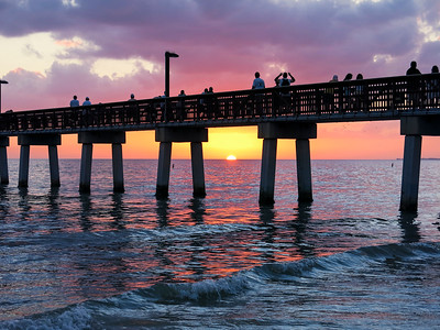 Watching The Sunset, Ft Myers Beach, Florida