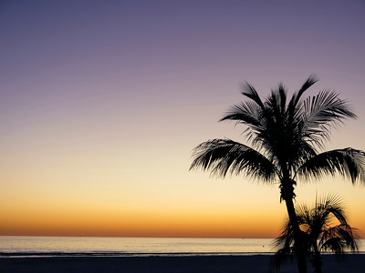Sunset on Ft Myers Beach, Florida